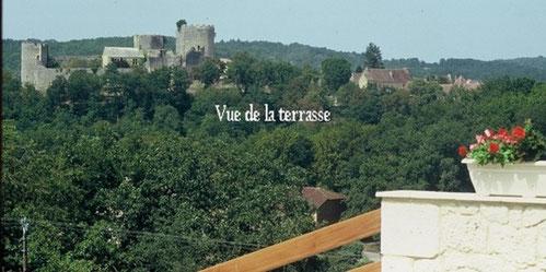 Gîte de l'ébéniste : Vue de la terrasse