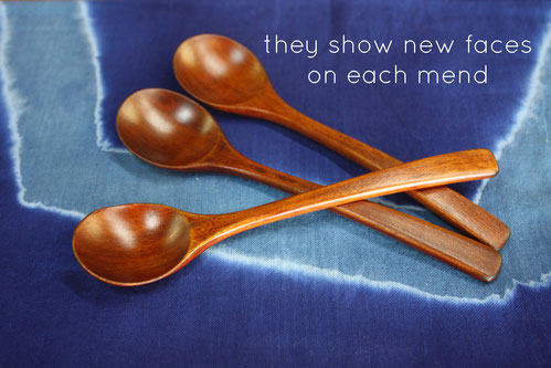 these spoons show new faces on each mend