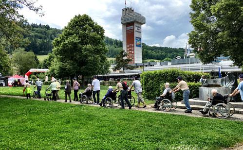 Auch die Senioren beteiligen sich aktiv an Schweiz.bewegt