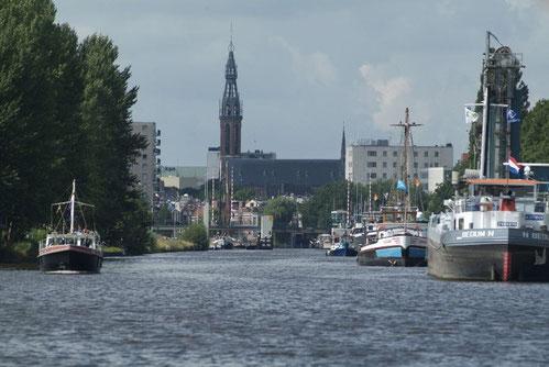 Einfahrt Groningen Oosterhaven.
