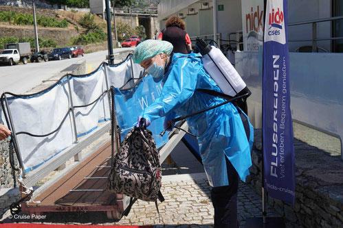 MS DOURO CRUISER Hygienemaßnahmen