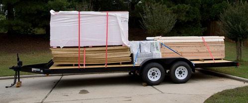 So könnte der Materialtransport zum Bauplatz aussehen