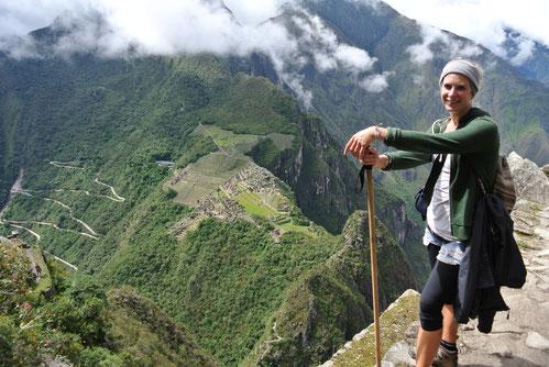 Vue depuis la montagne Huayna Picchu (que je vous conseille de faire!).