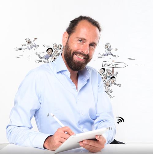 Stefan Wirkus wirkt als  Moderator, Schnellzeichner, Karikaturist, Live Zeichner, Cartoonist und Protokollzeichner