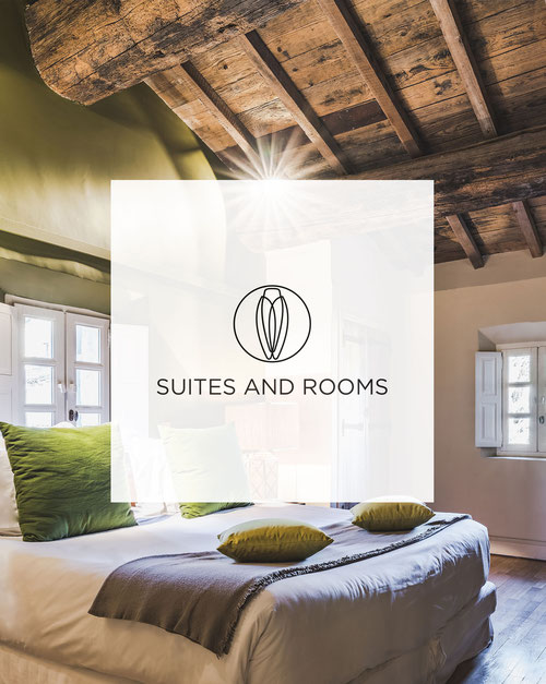 Luxuries suites and rooms of Hameau des Baux