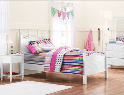 Cama individual kylie collection color blanco for Cama individual blanca