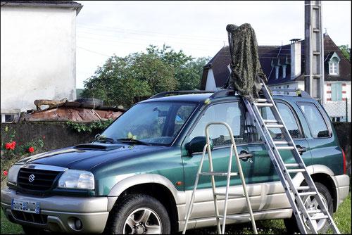 Affût photo sur voiture
