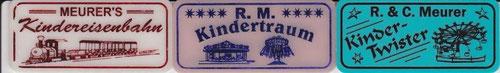 Meurer's Kindereisenbahn; R. M. Kindertraum; R. & C. Meurer Kinder-Twister; Brühl