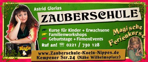 Zauberschule Astrid Gloria in Köln, Zauberkurse für Kinder und Erwachsene