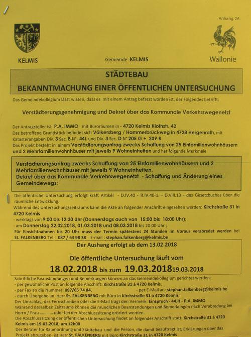 BiHU, Überbebauung Hergenrath, Belgien, Staatsratsurteil, Schutzzone, Natura 2000, Trinkwasserschutzzone, HEG, Gebrüder Steffens, Hergenrather Eigenbau