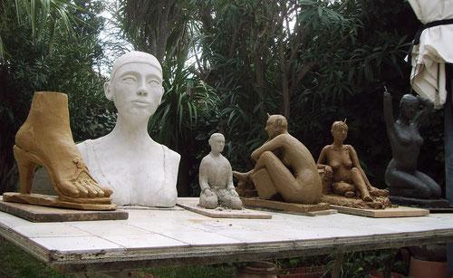 nouveau sculpteur sculpture art nude women,
