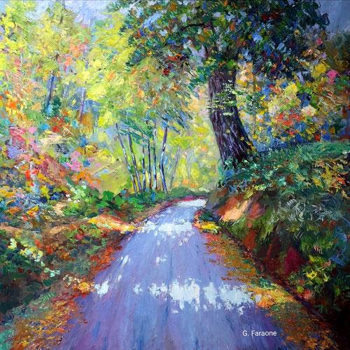 sentiero, impressionismo contemporaneo, Giuseppe Faraone