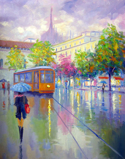 Modern impressionist painters contemporary Giuseppe Faraone