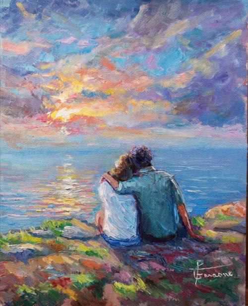 Innamorati ,dipinto