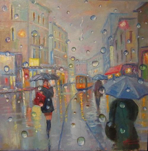 ...La mia anima ha la tristezza della pioggia serena, tristezza rassegnata di cosa irrealizzabile, ho all'orizzonte una stella accesa e il cuore mi impedisce di contemplarla....  Federico Garcia Lorca  (dipinto di Giuseppe Faraone)