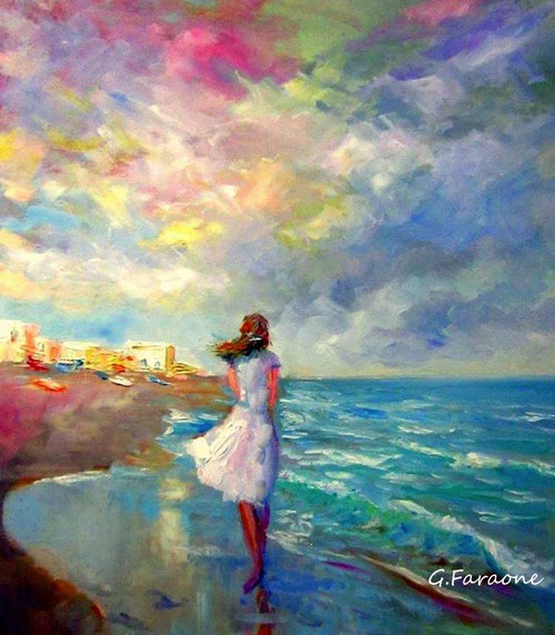 pintor impresionista contemporáneo