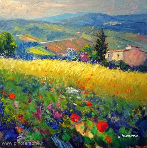 campo di grano, modern impressionism