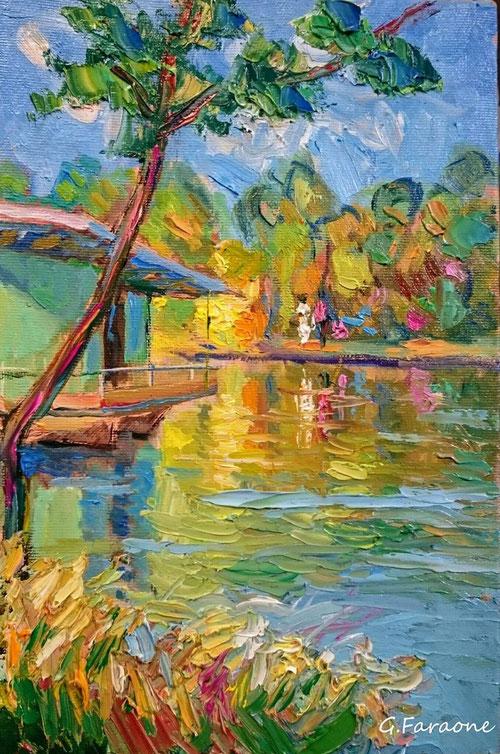 Giuseppe Faraone pittore impressionista moderno contemporaneo