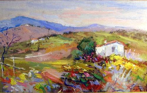 Paesaggio lucano: opera di Giuseppe Faraone (n.d)
