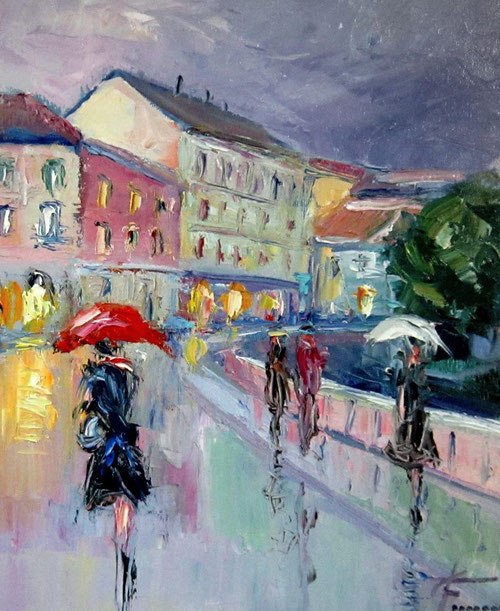 Pioggia a Milano Giuseppe Faraone