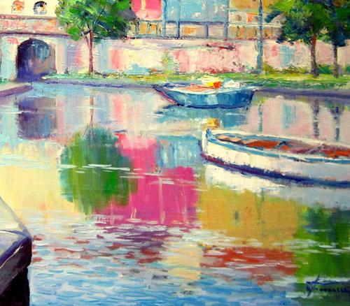 Darsena impressionismo moderno by Giuseppe Faraone