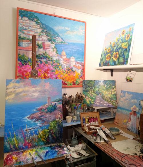 Tana dell'Arte , angolo pittura