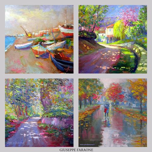 pittore impressionista contemporaneo, dipinto
