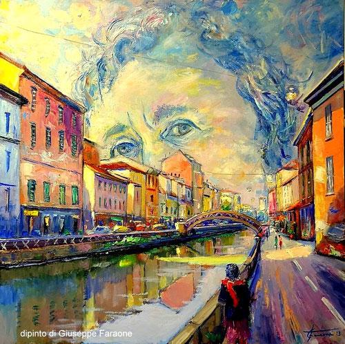 dipinto del pittore impressionista Giuseppe Faraone