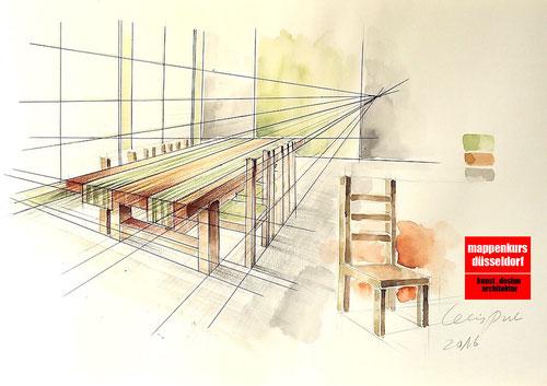 Mappenkurs Düsseldorf NRW, Möbeldesign, Innenarchitektur