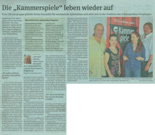 Volksstimme Magdeburg 31.07.2014