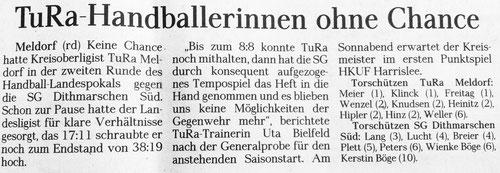 Spielbericht Meldorf