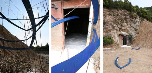 verlorener übergang. charon desertierte. installation im steinbruch von gavorrano 2005