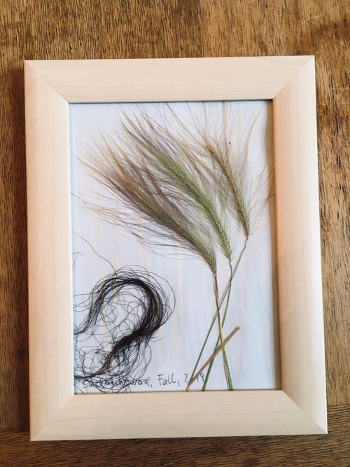 """The same helper created this """"prairie grass and a lock of a buffalo as a gift for his family."""""""