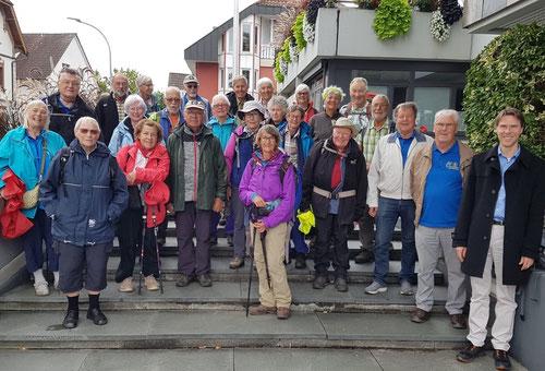 Nach sechs Etappen auf dem Kinzigtäler Jakobusweg trafen die Schweizer Jakobsfreunde am Zielort in Schutterwald ein.
