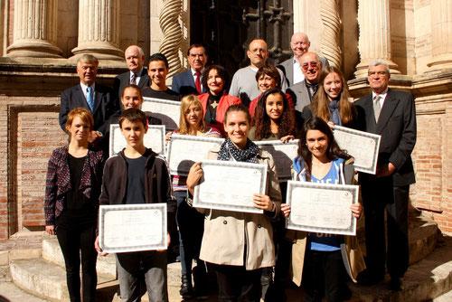 Lauréats du Prix de la NOUVELLE pour les jeunes en 2013 pour le salon du livre des Gourmets de Lettres