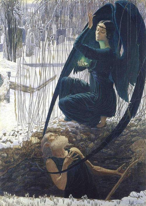 カルロス・シュヴァーベ「墓掘りの死」(1895年)
