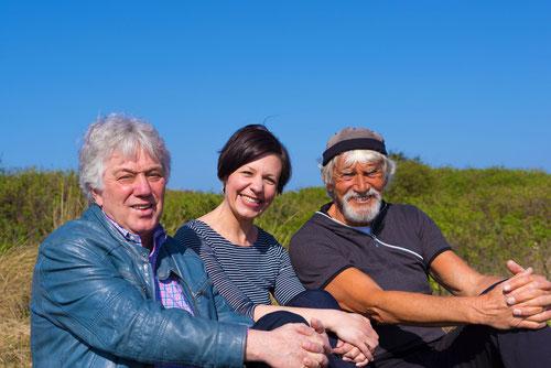von links nach rechts: Rolf Zuckowski, Kerstin Slowik, Anselm