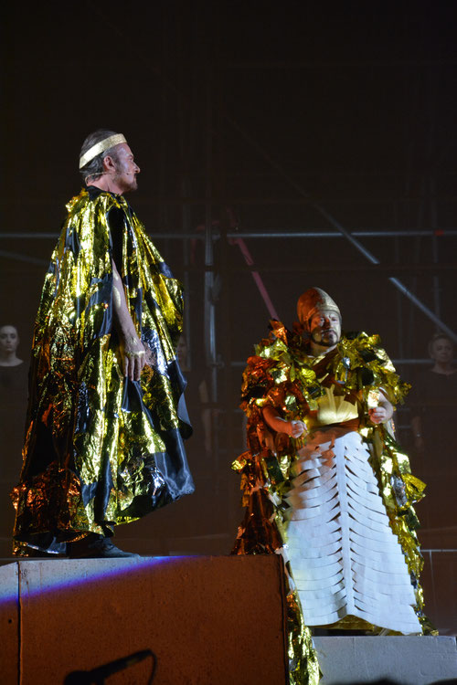 Walter Fraccaro and Carlo Colombarain Aida at Arena Pula