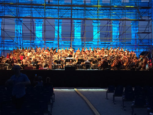 Orchestra and chorus dress reharsal - Aida, Arena Pula