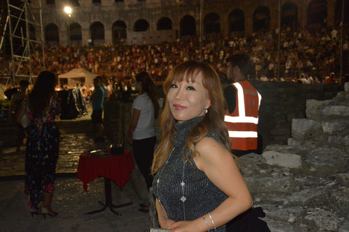 Sumi Jo as guest at Aida in Arena Pula