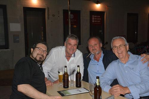 Carlo Colombara, Peter Ghirardini, Walter Fraccaro, Giorgio Surian after Aida in Arena Pula