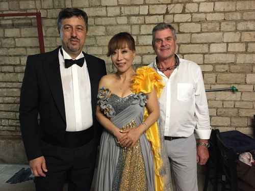 Robert Kolar, Sumi Jo, Peter Ghirardini in Arena Pula - Carmina Burana