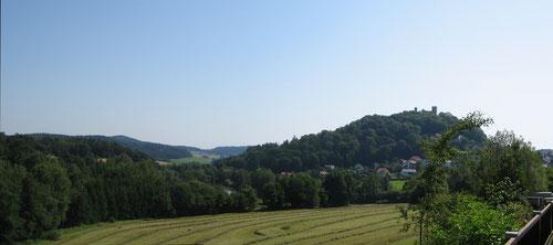 Vor der Haustür genießt man einen Panoramablick auf Falkenstein