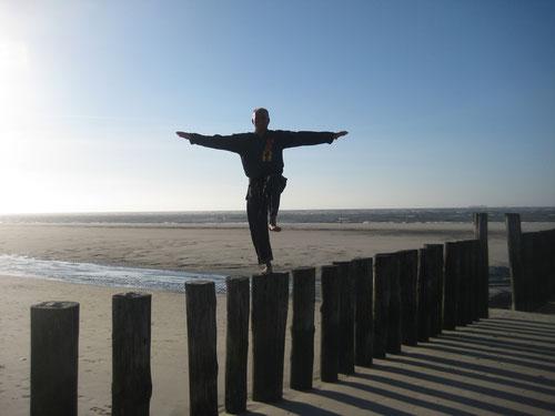 Gesundheitskarate am Strand von Wangerooge!