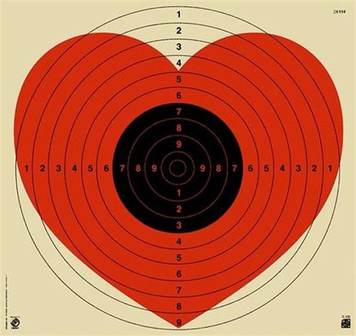 Patrik Thomas  Heart/Target #03 - Fluoro Red, 2014