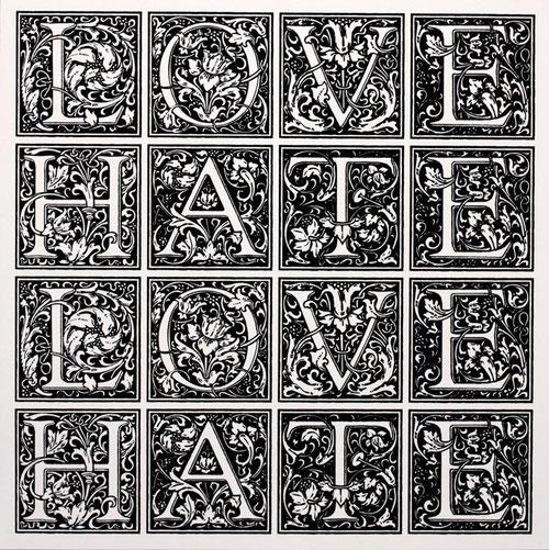 I-Lib Love Hate Print