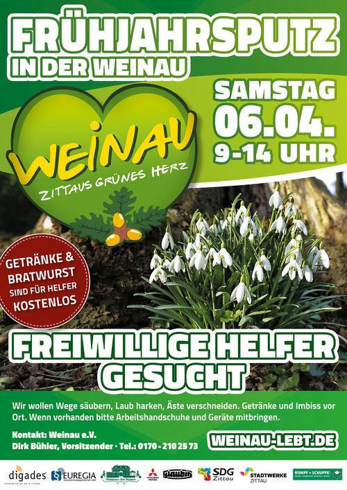 Frühjahrsputz 2018 in der Weinau in Zittau