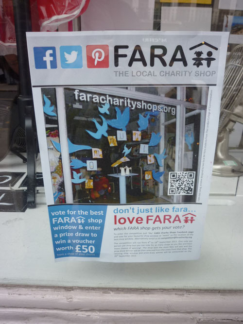 FARA Charity Shop und Social Media-Promotion. Copyright: Thomas Matla