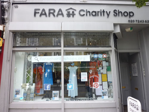 FARA Charity Shop in Nottinghill, London/UK. Copyright: Thomas Matla