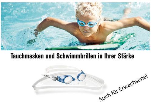 Schwimmbrillen mit individueller Sehstärke